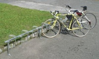 Stojan na kola stavebnicový - sklon 45°